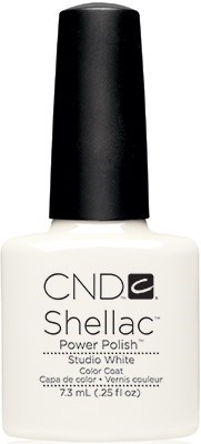 "CND Shellac Studio White, 7,3 мл. - гель лак Шеллак ""Белая студия"" - фото 15427"