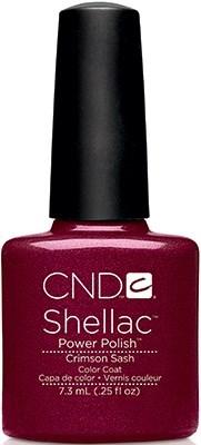 """CND Shellac Crimson Sash, 7,3 мл. - гель лак Шеллак """"Тёмно-красный пояс"""" - фото 15459"""