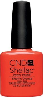 """CND Shellac Electric Orange, 7,3 мл. - гель лак Шеллак """"Электрический оранжевый"""" - фото 15462"""