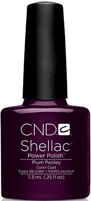 CND Shellac Plum Paisley, 7,3 мл. - цветное покрытие - фото 15497
