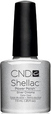 "CND Shellac Silver Chrome, 7,3 мл. - гель лак Шеллак ""Хром"" - фото 15509"