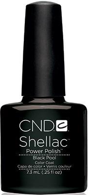 """CND Shellac Black Pool, 7,3 мл. - гель лак Шеллак """"Чёрный Бассейн"""" - фото 15513"""