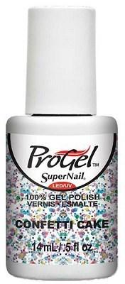 "SuperNail ProGel Confetti Cake, 14 мл. - гелевый лак ""Торт из конфетти"" - фото 20688"
