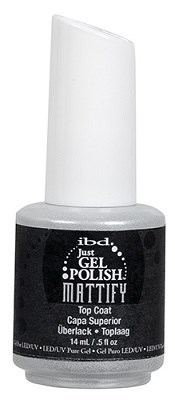 IBD Just Gel Polish Mattify Top Coat, 14 мл. - топ для гель лака матовый - фото 21874