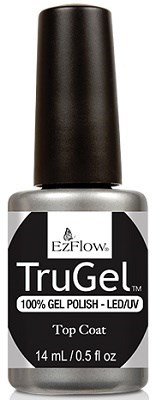 EzFlow TruGel Top Coat, 14 мл. - топ для гель лака - фото 22122