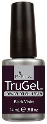 """EzFlow TruGel Black Violet, 14 мл. - гелевый лак """"Темный фиолетовый"""" - фото 22133"""