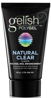 Gelish PolyGel Natural Clear, 60 г. - прозрачный моделирующий гель Гелиш Полигель - фото 25546