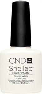 "CND Shellac Studio White, 7,3 мл. - гель лак Шеллак ""Белая студия"""