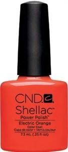 CND Shellac Electric Orange, 7,3 мл. - цветное покрытие