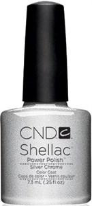 CND Shellac Silver Chrome, 7,3 мл. - цветное покрытие