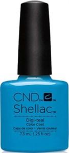 CND Shellac Digi-teal, 7,3 мл. - цветное покрытие шеллак гель-лак
