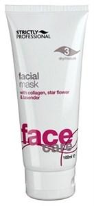 Strictly Facial Gel Mask with Collagen for Dry/Mature Skin, 100ml.- Омолаживающая гель-маска с коллагеном и эфирным маслом лаванды, для сухой и увядающей кожи
