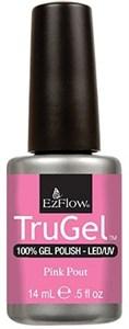 """EzFlow TruGel Pink Pout, 14 мл. - гелевый лак """"Розовые губки"""""""