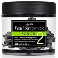 Gena Pedi Spa Detox Charcoal Scrub, 473мл. - скраб-детокс для педикюра, с древесным углём