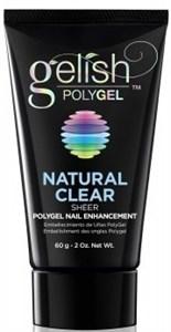 Gelish PolyGel Natural Clear, 60 г. - прозрачный моделирующий гель Гелиш Полигель