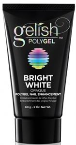 Gelish PolyGel Bright White, 60 г. - яркий белый моделирующий гель Гелиш Полигель