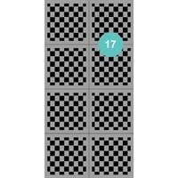 AEROPUFFING Stencil №17 - трафареты для Аэропуффинга №17 шахматная доска