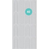 AEROPUFFING Stencil №40 - трафареты для Аэропуффинга №40 френч