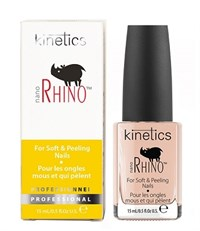 Kinetics Nano Rhino Nail Treatment, 15 мл. - Быстрый уход и восстановление ослабленных и слоящихся ногтей
