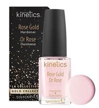 Kinetics Rose Gold Hardener, 15 мл. - Укрепляющее средство для ногтей, придает гладкость и нежный розовый оттенок с золотым мерцанием