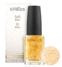 Kinetics Gold Elixir, 15 мл. - Восстанавливающий эликсир для сухих и ослабленных ногтей
