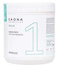 Saona Expert Line Sugar Paste 1 Bandage, 1000 гр.- Бандажная разогреваемая сахарная паста для шугаринга Саона