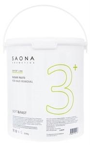 Saona Expert Line Sugar Paste 3+ Soft&Fast, 3500 гр.- Мягкая без разогрева, сахарная паста для шугаринга Саона