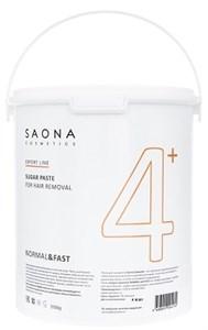 Saona Expert Line Sugar Paste 4+ Normal&Fast, 3500 гр.- Нормальная без разогрева, сахарная паста для шугаринга Саона