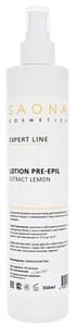 Saona Expert Line Lotion Pre-Epil Lemon, 350 мл.- Лосьон очищающий для кожи с экстрактом лимона Саона