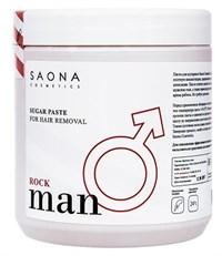 Saona Man Line Sugar Paste for Hair Removal Rock, 1000 гр.- Плотная без разогрева, сахарная паста для мужского шугаринга Саона
