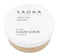 Saona Home Line Post-Epil PeeLing Sugar Scrub Coconut, 300 мл.- Сахарный скраб для легкого пилинга Кокос Саона