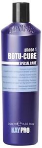 KAYPRO Botu-Cure Shampoo, 350 мл. - Шампунь Ботокс восстанавливающий, для очень поврежденных и склонных к ломке волос