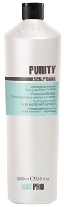 KAYPRO  PURITY Shampoo, 1000 мл. - Очищающий шампунь для волос против перхоти