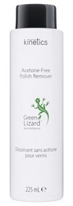 Kinetics Nail Polish Remover Green Lizard Apricot scent 225мл. - жидкость для снятия лака без ацетона, с ароматом абрикоса Кинетикс