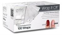 GELISH Wrap It Off, 100шт. - фольга со спонжем для удаления гель лака