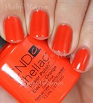 """CND Shellac Electric Orange, 7,3 мл. - гель лак Шеллак """"Электрический оранжевый"""" - фото 4810"""