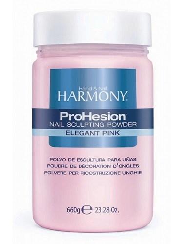 HARMONY ProHesion Elegant Pink Powder, 660 гр. - розовая полупрозрачная акриловая пудра для наращивания ногтей