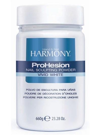 HARMONY ProHesion Vivid White Powder, 660 гр. - ярко-белая акриловая пудра для наращивания ногтей