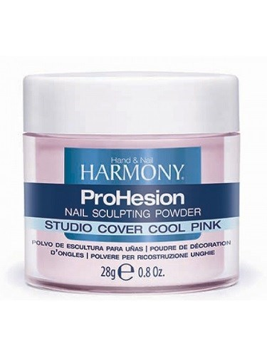 HARMONY Studio Cover Cool Pink Powder, 28 гр. - камуфлирующая светло-розовая акриловая пудра для наращивания