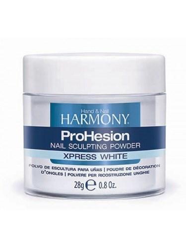 HARMONY ProHesion Xpress White Powder, 28 гр. - ярко-белая быстро-отвердеваемая акриловая пудра для наращивания