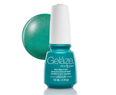 "Gelaze Gel-n-Base Polish Turned Up Turquoise, 9.76 мл.- гелевый лак ""Подсвечник"" - фото 14810"