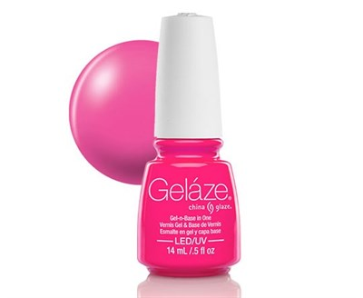 "Gelaze Gel-n-Base Polish Pink Voltage, 9.76 мл.- гелевый лак ""Розовое напряжение"" - фото 14831"