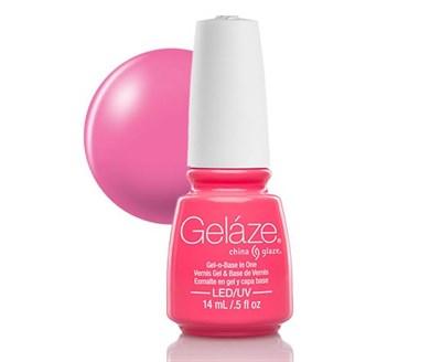 """Gelaze Gel-n-Base Polish Shocking Pink, 9.76 мл.- гелевый лак """"Шокирующе розовый"""" - фото 14832"""