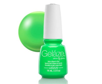 "Gelaze Gel-n-Base Polish In the Lime Light, 9.76 мл.- гелевый лак ""Сочный лайм"" - фото 14841"