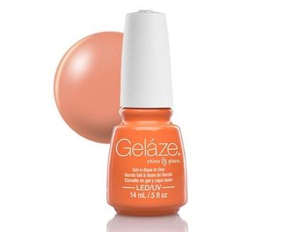 "Gelaze Gel-n-Base Polish Peachy Keen, 9.76 мл.- гелевый лак ""Чувствительный персик"" - фото 14845"