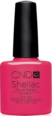 "CND Shellac Pink Bikini, 7,3 мл. - гель лак Шеллак ""Розовое бикини"" - фото 15447"