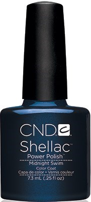 "CND Shellac Midnight Swim, 7,3 мл. - гель лак Шеллак ""Ночью в море"" - фото 15488"