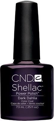 "CND Shellac Dark Dahlia, 7,3 мл. - гель лак Шеллак ""Тёмный георгин"" - фото 15498"