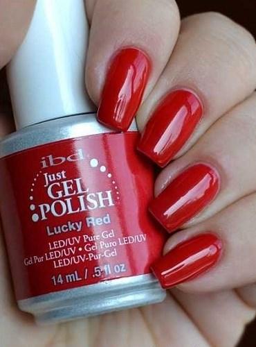 "IBD Just Gel Polish Lucky Red, 14 мл. - гель лак IBD ""Счастливчик"" - фото 19151"