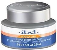 IBD LED/UV Builder Gel Pink V, 14 г. – теплый розовый камуфлирующий гель для моделирования ногтей